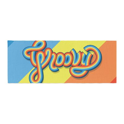 Roberlan Groovy Typography Bed Runner