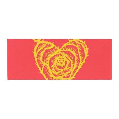 BarmalisiRTB I Love Roses Heart Thorns Bed Runner