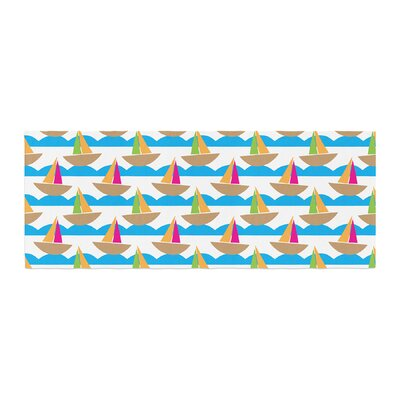 Apple Kaur Designs Beside the Seaside Boats Bed Runner