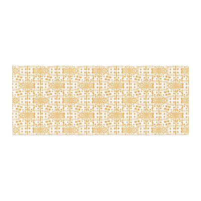 Apple Kaur Designs Diamonds Squares Bed Runner