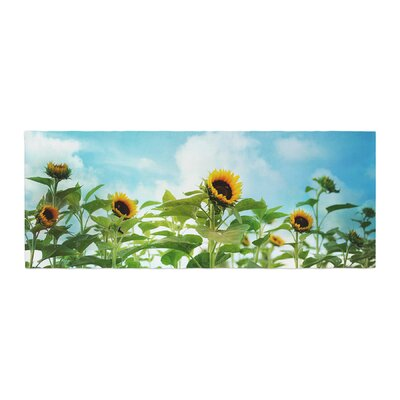 Sylvia Cook Sunflower Field Bed Runner