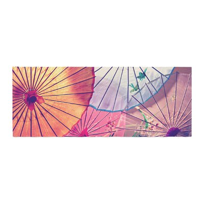Sylvia Cook Colorful Umbrellas Bed Runner