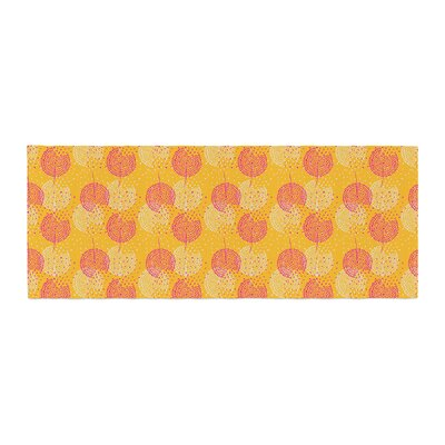 Apple Kaur Designs Wild Summer Dandelions Circles Bed Runner