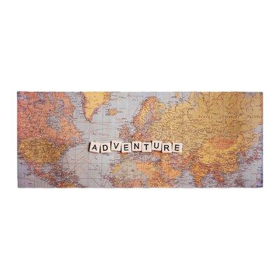Sylvia Cook Adventure Map World Bed Runner