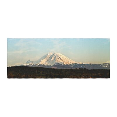 Sylvia Cook Mt. Rainier Mountain Photo Bed Runner