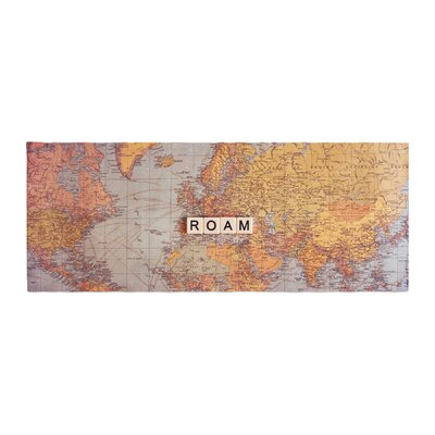 Sylvia Cook Roam Map World Bed Runner