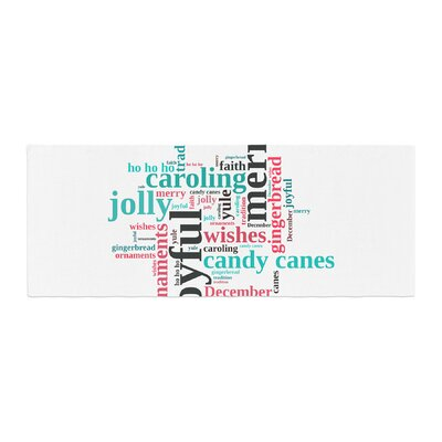 Sylvia Cook Holiday Traditions Christmas Typography Bed Runner