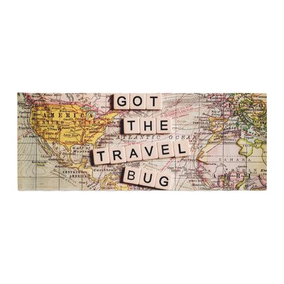 Sylvia Cook Travel Bug Map Bed Runner