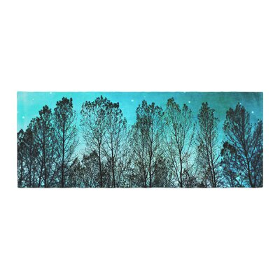 Sylvia Cook Dark Forest Trees Bed Runner