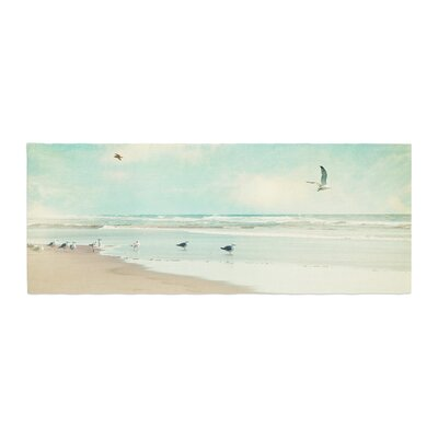 Sylvia Cook Away We Go Beach Seagull Bed Runner