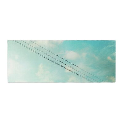 Sylvia Cook Birds on Wires Sky Bed Runner