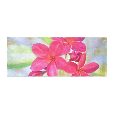Sylvia Cook Plumeria Flower Petals Bed Runner