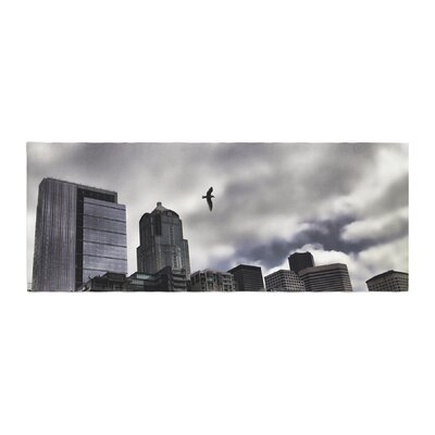 Sylvia Cook Seattle Skyline City Clouds Bed Runner