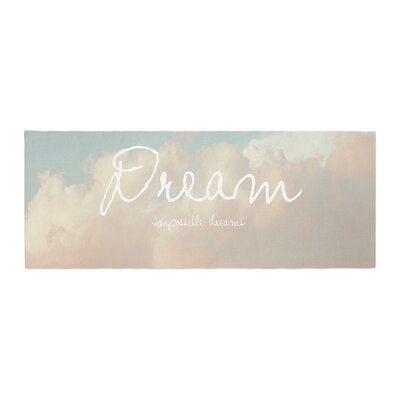Suzanne Carter Dream Quote Clouds Bed Runner
