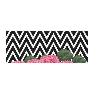 Suzanne Carter Camellia Chevron Flower Bed Runner