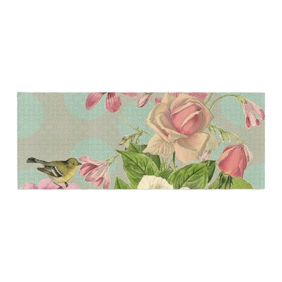 Suzanne Carter Vintage Garden Cush Flowers Bed Runner