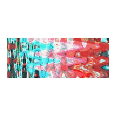 Suzanne Carter Wave Abstract Bed Runner