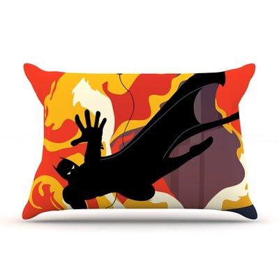 Kevin Manley Prodigal Son Batman Fire Pillow Case