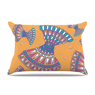 Miranda Mol Tribal Fun Orange Abstract Pillow Case Color: Orange