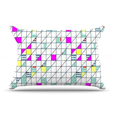 Michelle Drew Squares Abstract Geometry Pillow Case