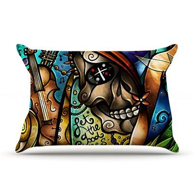 Mandie Manzano Good Times Roll Skull Pillow Case