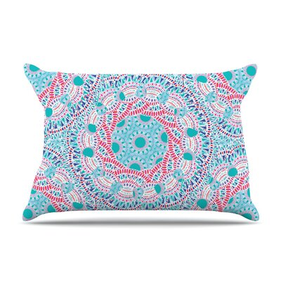 Miranda Mol Prismatic Abstract Pillow Case Color: Pink