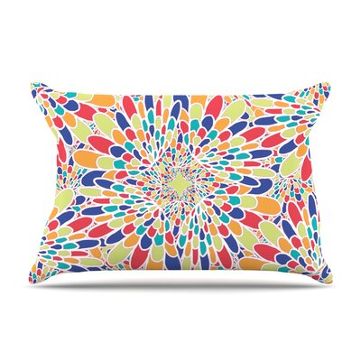 Miranda Mol Flourishing Geometric Pillow Case Color: Blue
