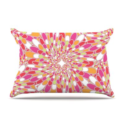 Miranda Mol Flourishing Geometric Pillow Case Color: Pink/Orange