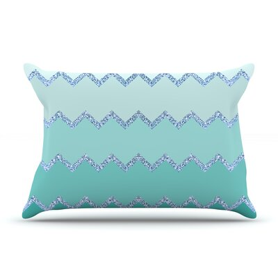 Monika Strigel Avalon Coral Ombre Pillow Case Color: Green