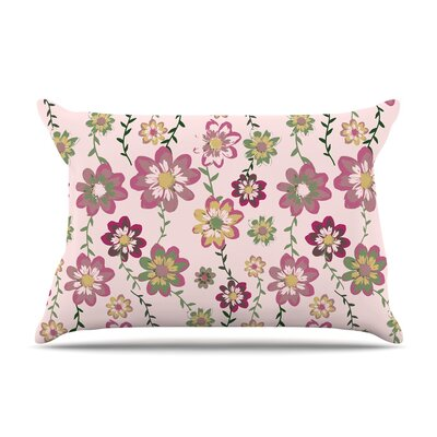 Nika Martinez 'Romantic Flowers In Pink' Blush Floral Pillow Case