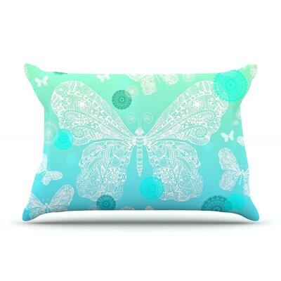 Monika Strigel Butterfly Dreams Coral Pillow Case Color: Aqua/Teal