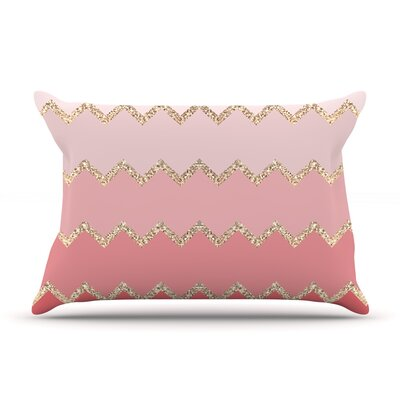 Monika Strigel Avalon Coral Ombre Pillow Case Color: Pink