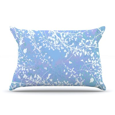 Iris Lehnhardt Twigs Silhouette Pillow Case Color: Blue