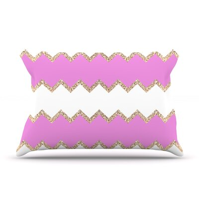 Monika Strigel Avalon Chevron Rose Pillow Case Color: Rose/White