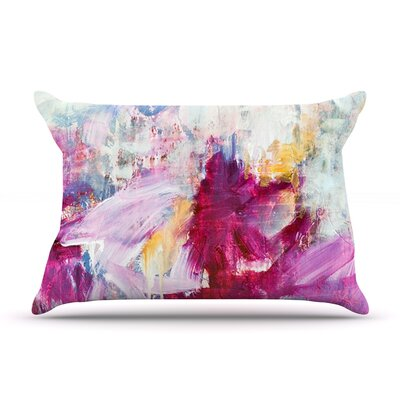 Iris Lehnhardt Magenta Paint Pillow Case