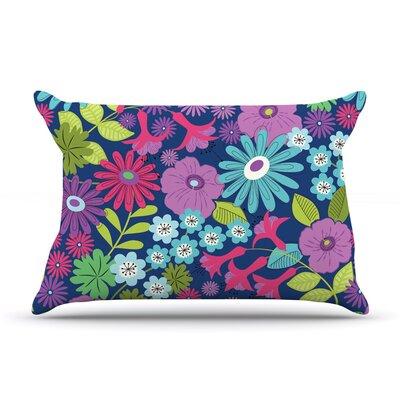 Jacqueline Milton Lula - Aqua Pillow Case Color: Aqua/Purple