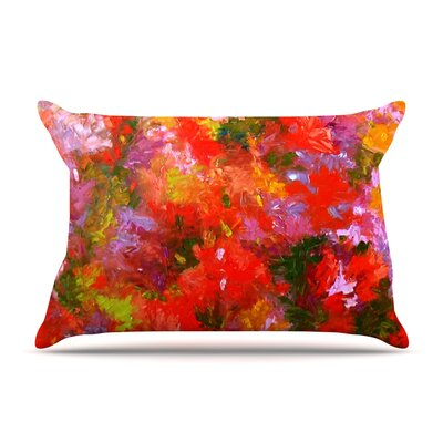 Jeff Ferst Summer Garden Floral Painting Pillow Case