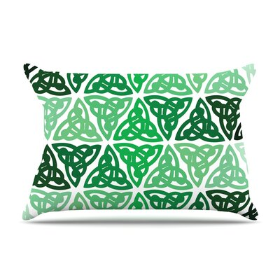 Celtic Knot Green Forest Pillow Case