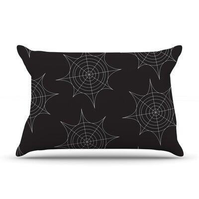 Spiderwebs Pillow Case Color: Black