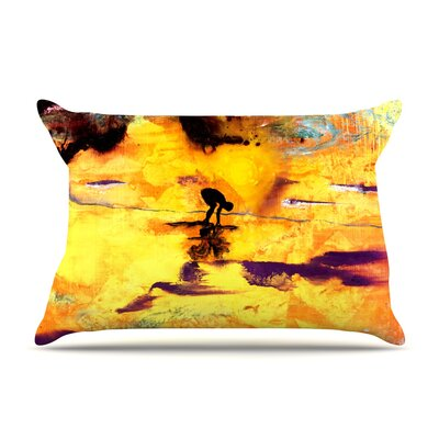 Josh Serafin Pool Of Life Abstract Pillow Case