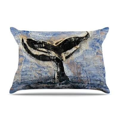 Josh Serafin Whale Tail Coastal Painting Pillow Case
