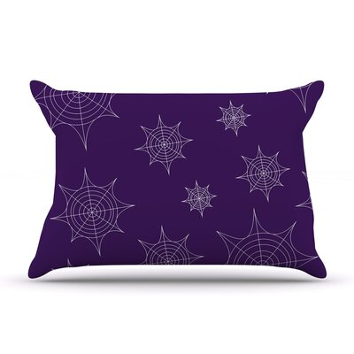 Mini Webs Pillow Case Color: Purple