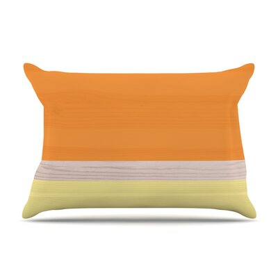 Spring Swatch - Lavender Wood Pillow Case Color: Orange/Yellow
