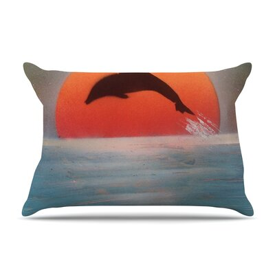 Infinite Spray Art Dolphin Sunset Pillow Case