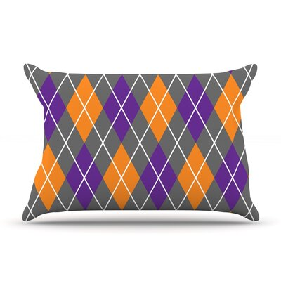 Argyle - Day Pillow Case Color: Gray/Purple