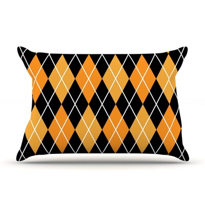 Argyle - Day Pillow Case Color: Black