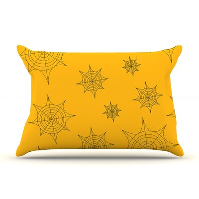 Mini Webs Pillow Case Color: Orange