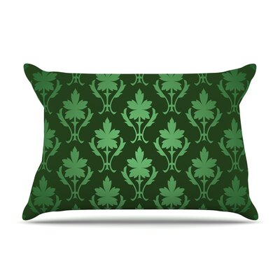 Emerald Damask Pillow Case