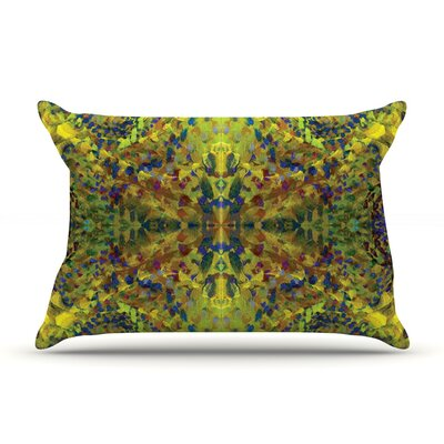 Nikposium Yellow Jacket Abstract Pillow Case