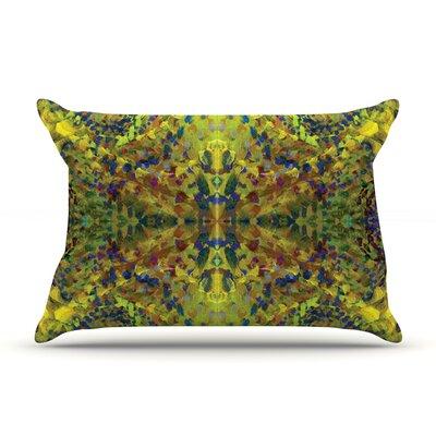 Nikposium Yellow Jacket Abstract Pillow Case